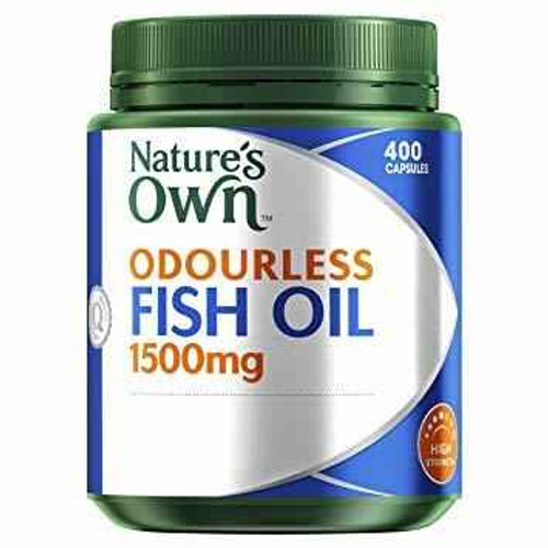 Natures Own Odourless Fish Oil 1500mg 400 Capsules Natures Own SuperPharmacyPlus