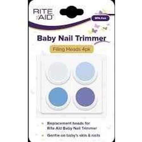 Rite Aid Baby Nail Trimmer - Filing Heads 4pk RiteAid SuperPharmacyPlus