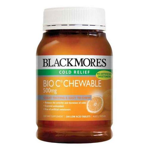 Blackmores Bio C Chewable 500mg 200 Tablets Blackmores SuperPharmacyPlus