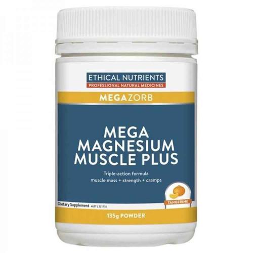 Ethical Nutrients Megazorb Mega Magnesium Muscle Plus 135g Powder Ethical Nutrients SuperPharmacyPlus