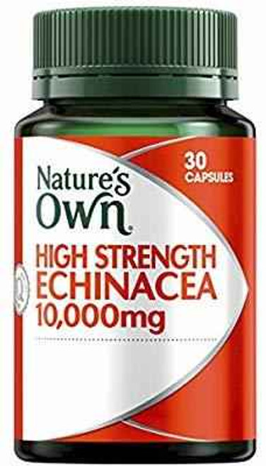 Natures Own High Strength Echinacea 10,000mg 30 Capsules Natures Own SuperPharmacyPlus