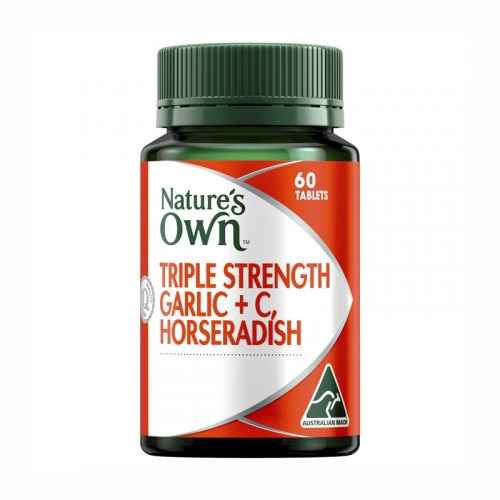Natures Own Triple Strength Garlic C, Horseradish 60 Tablets Natures Own SuperPharmacyPlus