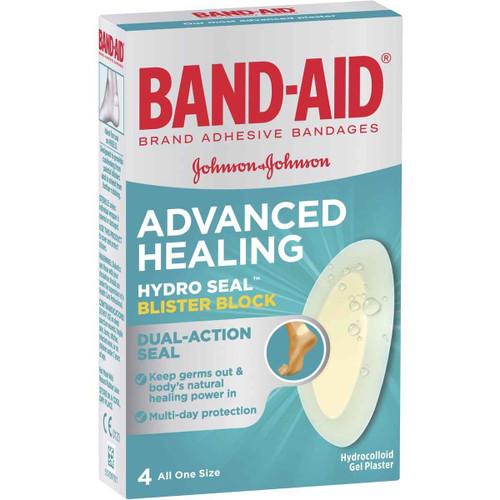 Band-Aid Advanced Healing Hydro Seal Blister Block 4 Pack Band-Aid SuperPharmacyPlus