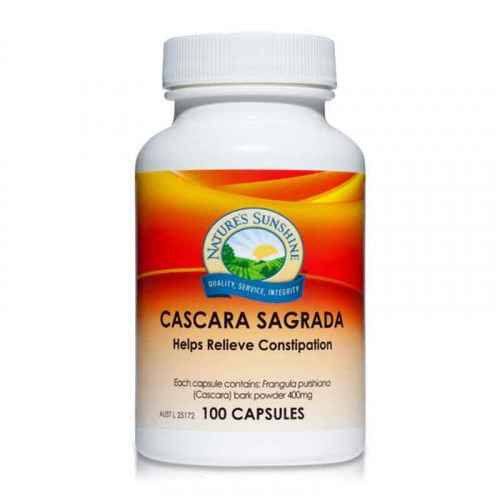 Natures Sunshine Cascara Sagrada 400mg 100 Capsules Natures Sunshine SuperPharmacyPlus