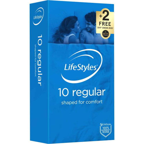 LifeStyles Regular Condoms 10 Pack Lifestyles SuperPharmacyPlus