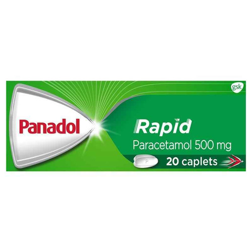 Panadol Rapid Paracetamol 500mg 20 Caplets Panadol SuperPharmacyPlus