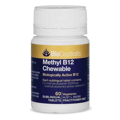 Bioceuticals Methyl B12 Chewable 60 Sublingual Tablets BioCeuticals SuperPharmacyPlus
