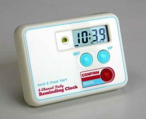 Tab Timer Medication Pill Reminding Alarm Clock TT4-0SQ TabTimer SuperPharmacyPlus