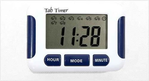 Tab Timer 8 Alarm Timer TT8-0SQ TabTimer SuperPharmacyPlus