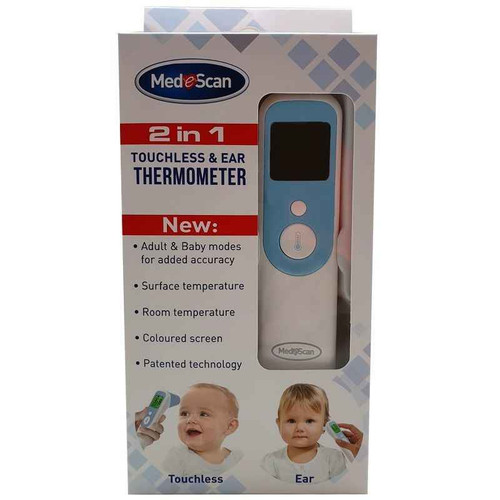 Medescan 2 In 1 Touchless and Ear Thermometer Medescan SuperPharmacyPlus