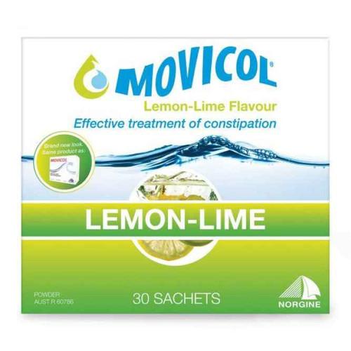 Movicol Powder 13g Lemon Lime 30 Sachets Norgine SuperPharmacyPlus