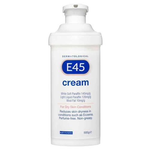 E45 Dermatological Cream Pump Pack 500g E45 SuperPharmacyPlus