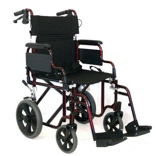 Wheelchair - Transporter Dual Brake Redgum SuperPharmacyPlus