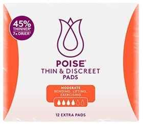 Poise Thin and Discreet Pads - 12 Extra Pads Poise SuperPharmacyPlus