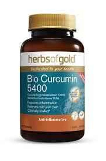 Herbs of Gold Bio Curcumin 5400 60 Tablets Herbs of Gold SuperPharmacyPlus