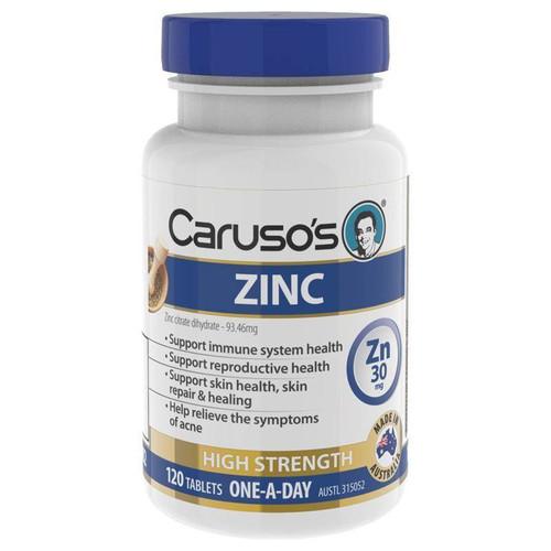 Carusos Natural Health Zinc 120 Tablets Carusos SuperPharmacyPlus