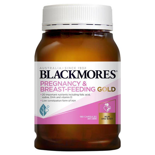 Blackmores Pregnancy and Breastfeeding Gold Capsules 180 Blackmores SuperPharmacyPlus