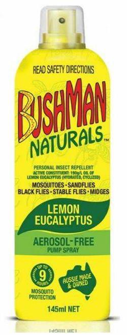 Bushman Naturals Lemon Eucalyptus Insect Repellent Pump 145mL Bushman SuperPharmacyPlus