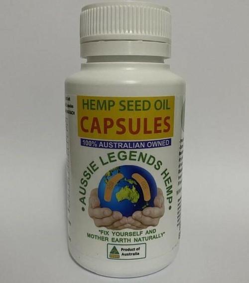 Aussie Legends Hemp Seed Oil 60 Soft Gel Capsules Aussie Legends Hemp Pty Ltd SuperPharmacyPlus