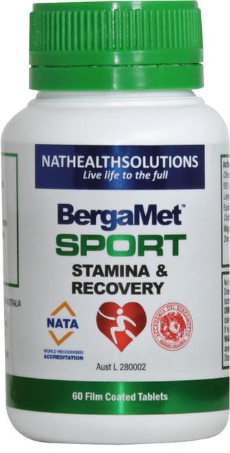 Bergamet Sport Stamina and Recovery 60 Tablets Bergamet SuperPharmacyPlus