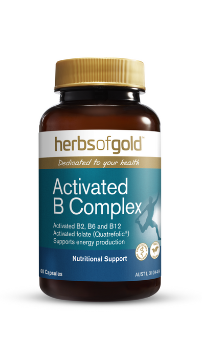 Herbs of Gold Activated B Complex 60 Capsules Herbs of Gold SuperPharmacyPlus