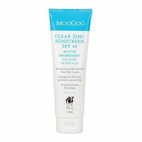 Moo Goo Clear Zinc Sunscreen SPF 40 120g MooGoo SuperPharmacyPlus