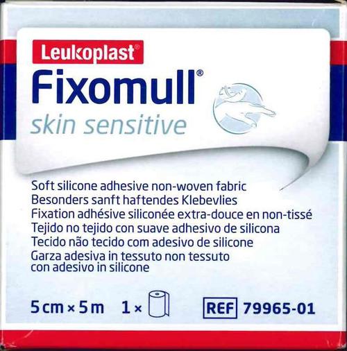 Leukoplast Fixomull Skin Sensitive 5cm x 5m White Tape BSN Medical SuperPharmacyPlus