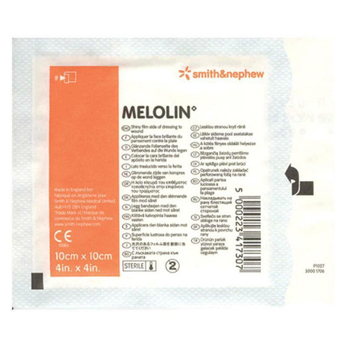 Melolin Absorbent Single Dressing 10cm x 10cm Smith and Nephew SuperPharmacyPlus