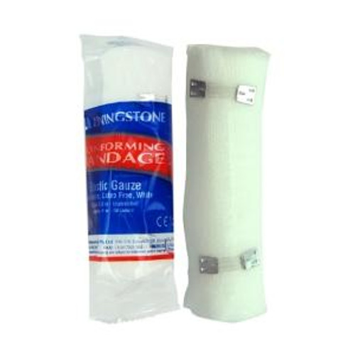 Livingstone Conforming Bandage with 2 Clips 10cm x 1.5m Unstretched Livingstone SuperPharmacyPlus