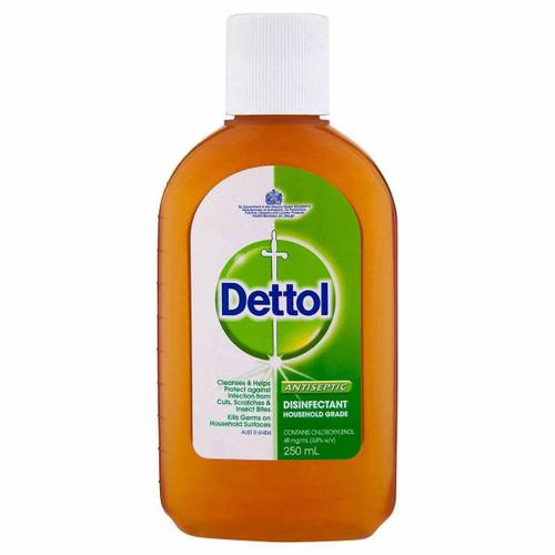 Dettol Antiseptic Antibacterial Disinfectant Liquid 250ml Reckitt Benckiser SuperPharmacyPlus