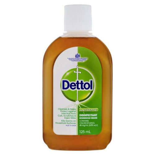 Dettol Antiseptic Antibacterial Disinfectant Liquid 125ml Reckitt Benckiser SuperPharmacyPlus