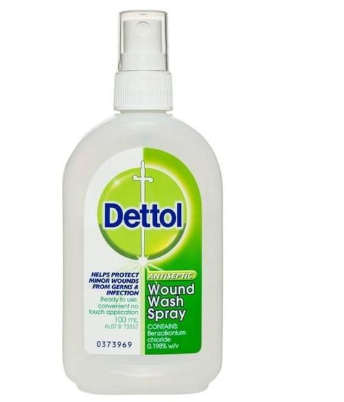 Dettol Antiseptic Wound Wash Spray 100mL Reckitt Benckiser SuperPharmacyPlus