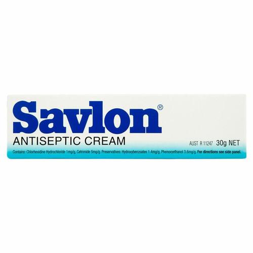 Savlon Antiseptic Cream for Cuts Grazes Bites 30g Reckitt Benckiser SuperPharmacyPlus