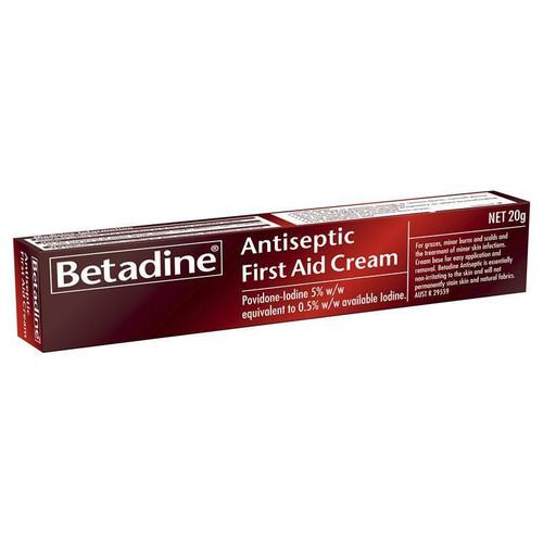 Betadine Antiseptic First Aid Cream 20g Betadine SuperPharmacyPlus