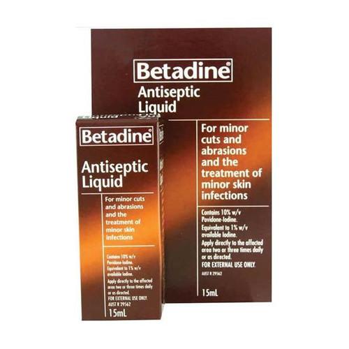Betadine Antiseptic Topical Solution 15ml Betadine SuperPharmacyPlus
