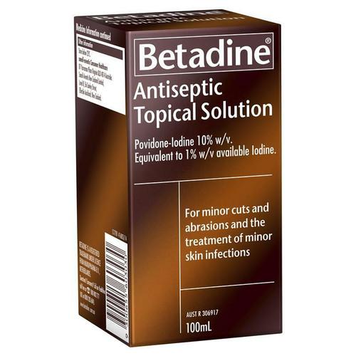 Betadine Antiseptic Topical Solution 100ml Betadine SuperPharmacyPlus