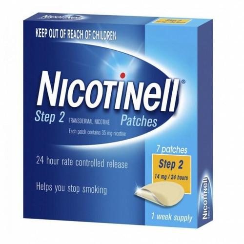 Nicotinell Step 2 Patch 14mg 7 Patches Perrigo Australia SuperPharmacyPlus