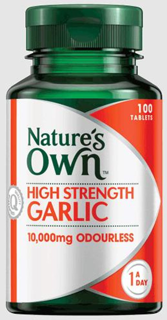 Natures Own High Strength Garlic 100 Tablets Natures Own SuperPharmacyPlus
