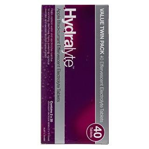 Hydralyte Effervescent Electrolyte Apple Blackcurrant 40 Tablets Care Pharmaceuticals SuperPharmacyPlus
