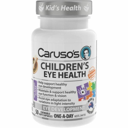 Carusos Childrens Eye Health 50 Chewable Soft Capsules Carusos SuperPharmacyPlus
