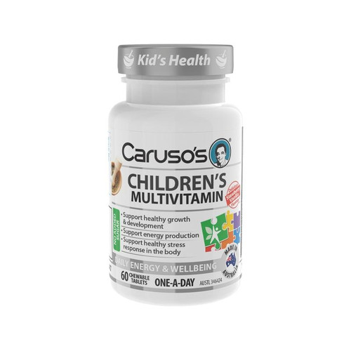 Carusos Childrens Multivitamin 60 Chewable Tablets Carusos SuperPharmacyPlus