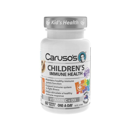 Carusos Childrens Immune Health 60 Chewable Tablets Carusos SuperPharmacyPlus