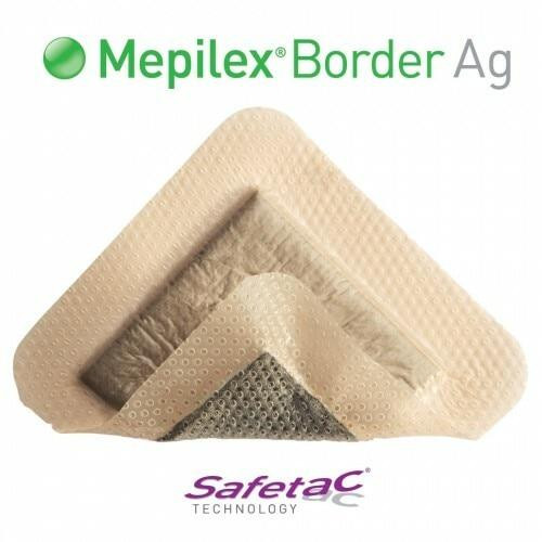 Mepilex Border Ag 7.5cm X 7.5cm Single Dressing Molnlycke SuperPharmacyPlus