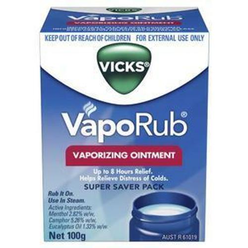 Vicks VapoRub Ointment Decongestant Chest Rub 100g Vicks SuperPharmacyPlus