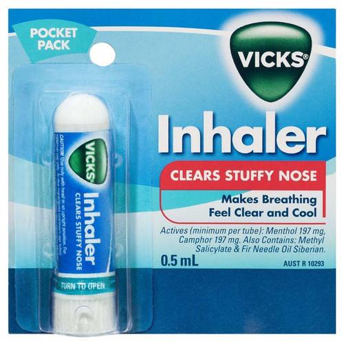 Vicks Nasal Spray Decongestant Inhaler 0.5mL Vicks SuperPharmacyPlus