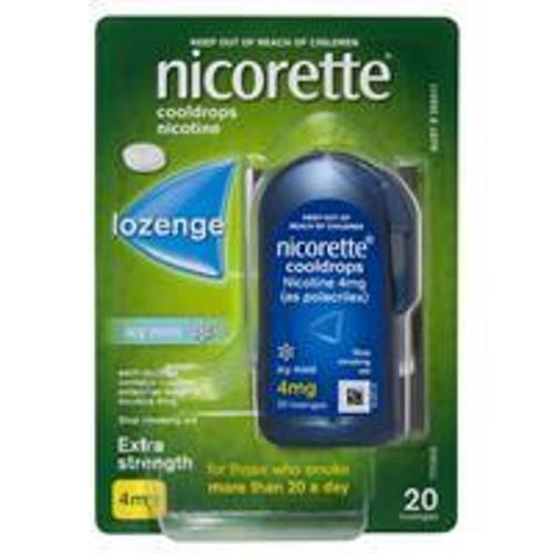Nicorette Quit Smoking Cooldrops Lozenge Icy Mint Extra Strength 4mg 20 Pack Nicorette SuperPharmacyPlus