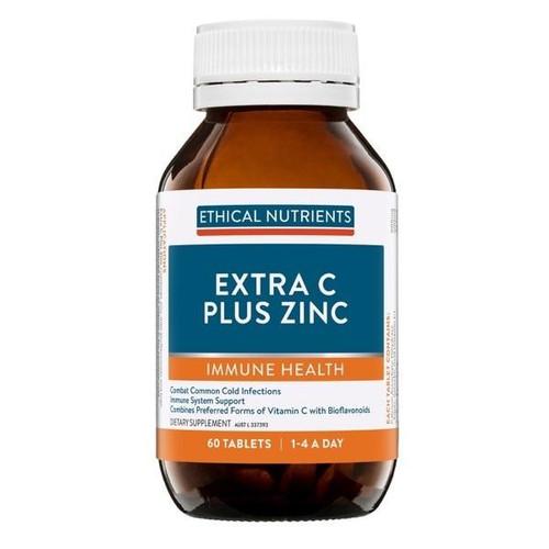 Ethical Nutrients Extra C Plus Zinc 60 Tablets Ethical Nutrients SuperPharmacyPlus