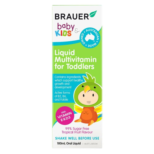 Brauer Baby and Kids Liquid Multivitamin for Toddlers 100ml Brauer SuperPharmacyPlus