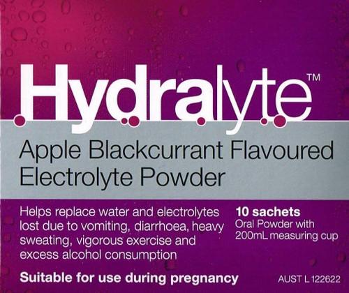 Hydralyte Powder Apple Blackcurrant 5g 10 Sachets SuperPharmacyPlus