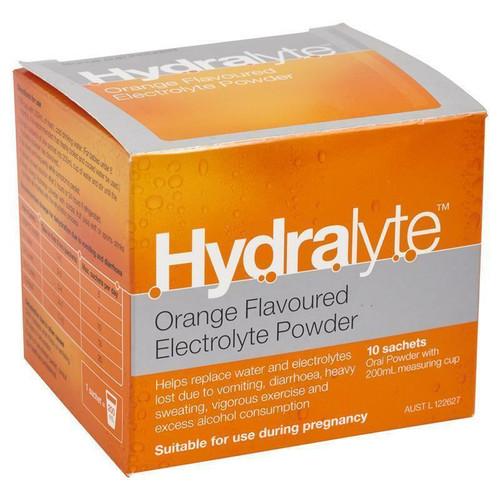 Hydralyte Powder Orange 5g 10 Sachets Hydralyte SuperPharmacyPlus